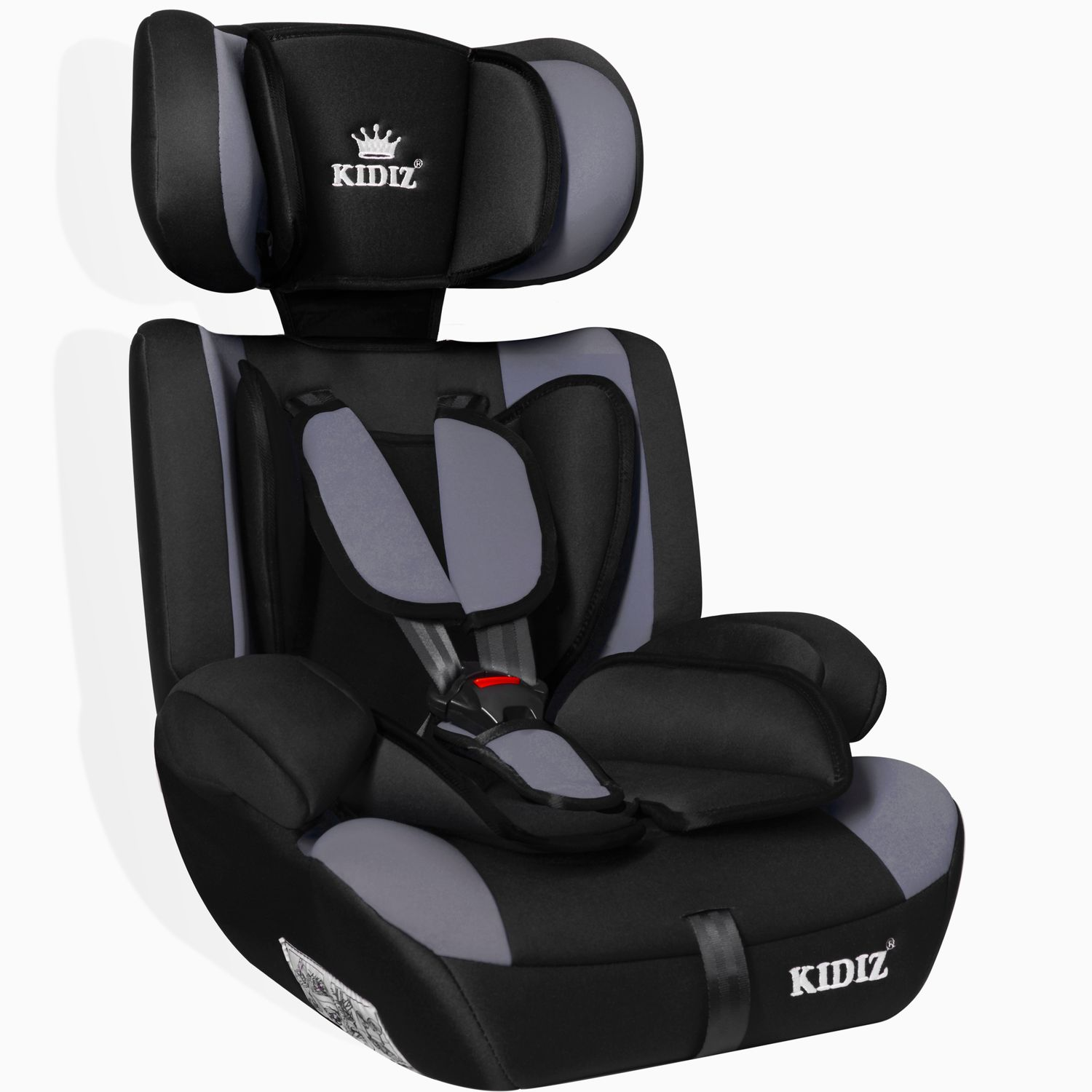 kidiz autokindersitz autositz kinderautositz 9 36 kg gruppe 1 2 3 sitz grau ebay. Black Bedroom Furniture Sets. Home Design Ideas