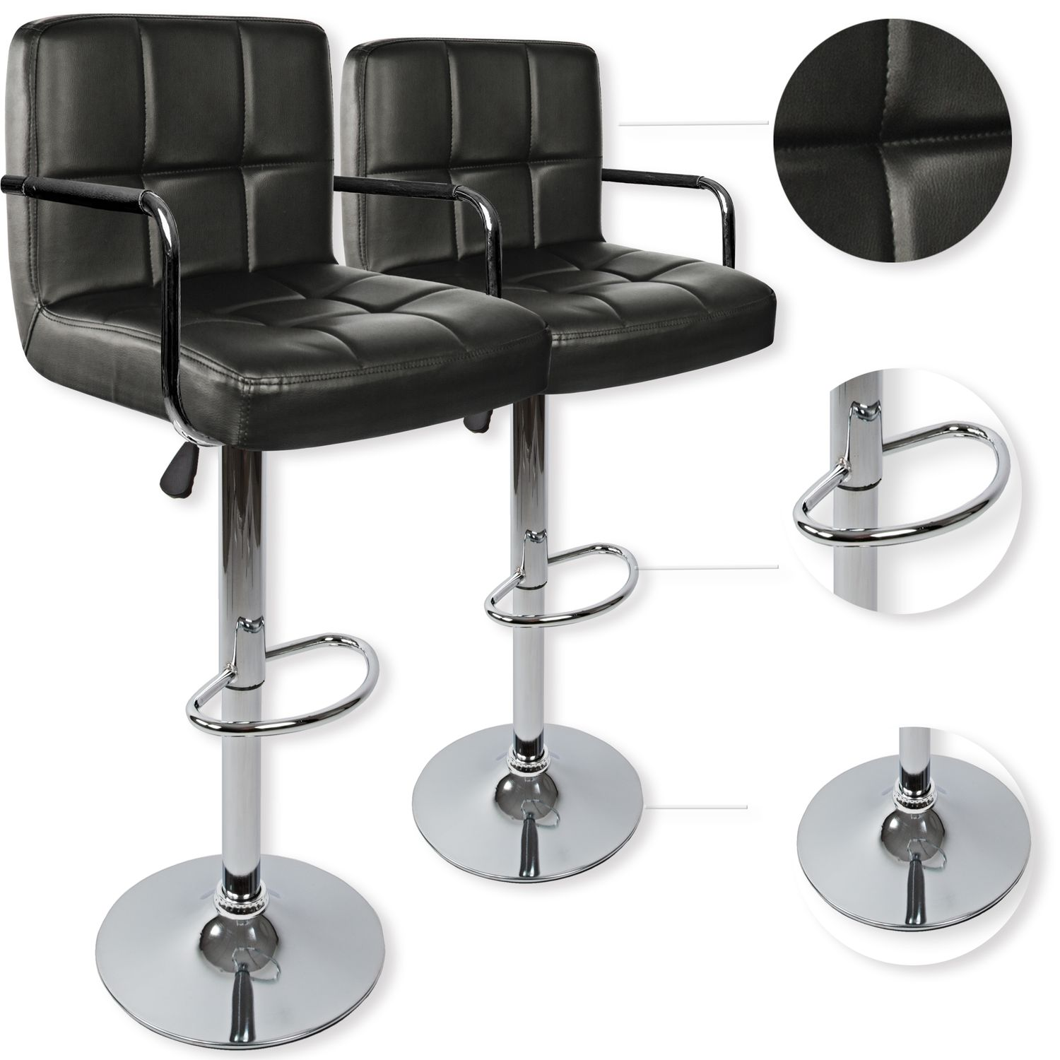 kesser set de 2 tabourets de bar chaise fauteuil bistrot. Black Bedroom Furniture Sets. Home Design Ideas